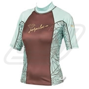Lycra JetPilot Luxe Ladies Brown/Green manches courtes