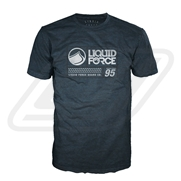 T-Shirt Liquid Force Label Midnight Navy