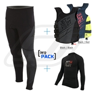 Pack Pants Jetpilot 3 Race Black/ Grey 2017 avec Gilet et Lycra