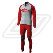 Combinaison Slippery Breaker Long John & Jacket - Red/ Silver