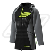 Tour coat néoprène Slippery Black/ Lime